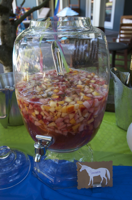 DON'T use a drink dispenser for Sangria...the fruit clogs the spout, and you'll end up using a ladle anyway!